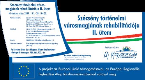 ÉMOP-3.1.2/A-2f-2009-0001 - Szécsény történelmi városmagjának rehabilitációja II. ütem